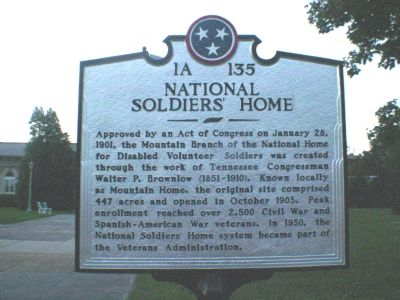 Marker at Veteran's Administration image. Click for full size.