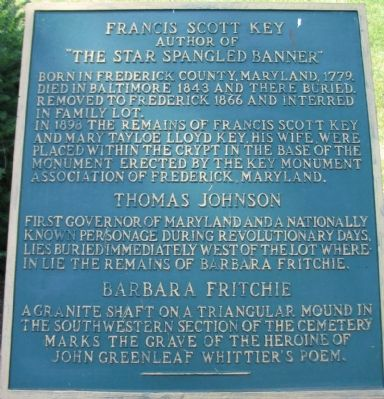Francis Scott Key Marker Photo, Click for full size