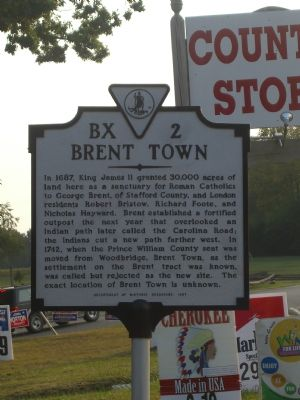 Brent Town Marker Photo, Click for full size