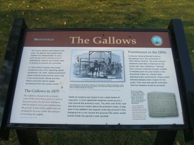Brentsville - The Gallows Marker image. Click for full size.