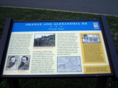 Orange and Alexandria RR - Strategic Target Marker Photo, Click for full size