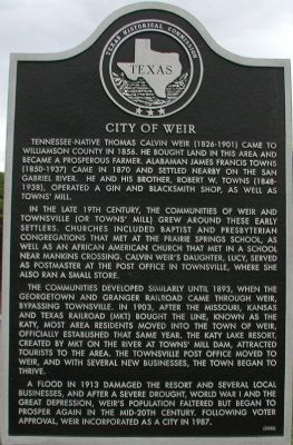 City of Weir Marker image. Click for full size.