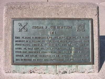 Edgar A. Culbertson BM1 Marker Photo, Click for full size