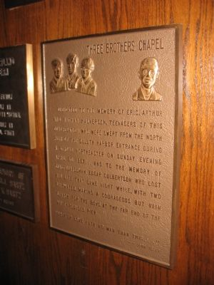 Plaque at Chapel Photo, Click for full size