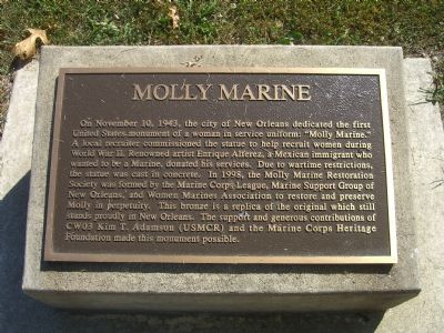 Molly Marine Marker Photo, Click for full size