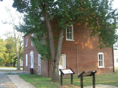 Brentsville County Jail and this marker image. Click for full size.