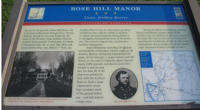 Rose Hill Manor Marker image. Click for full size.