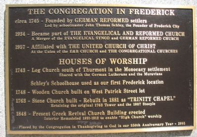 The Congregation in Frederick Marker image. Click for full size.