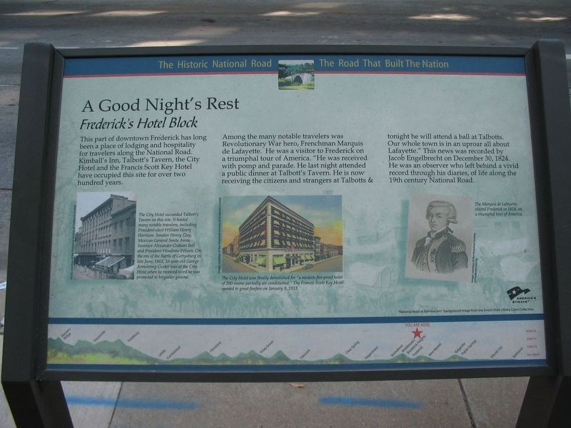 A Good Night's Rest Marker image. Click for full size.