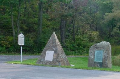 Three Markers at the Summit of the Pass image. Click for full size.