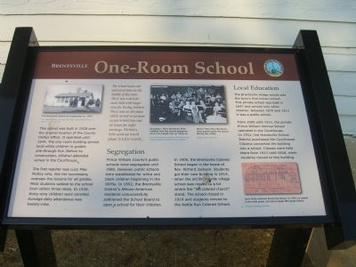 Brentsville - One-Room School Marker image. Click for full size.