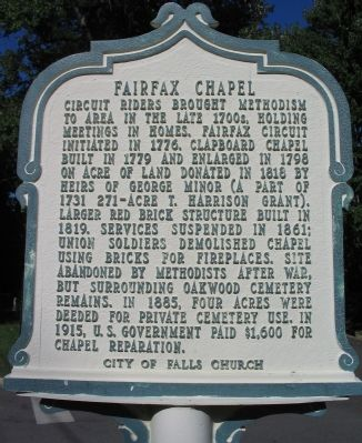 Fairfax Chapel Marker image. Click for full size.