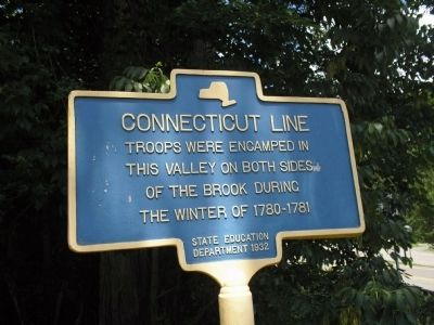 Connecticut Line Marker image. Click for full size.
