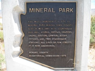 Mineral Park Marker image. Click for full size.