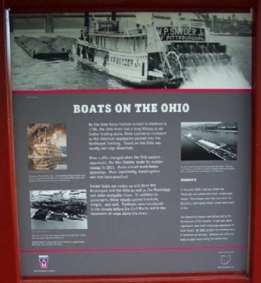 Boats on the Ohio Marker image. Click for full size.