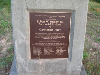 Robert W. Smalley, Sr. Memorial Bridges At Castelmans's Ferry Marker image. Click for full size.