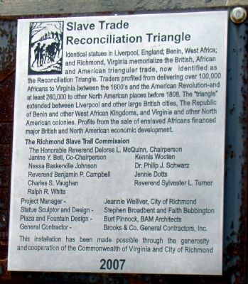 Slave Trade Reconciliation Triangle Marker image. Click for full size.
