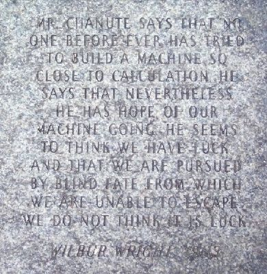 Wilbur Wright 1903 Paver image. Click for full size.