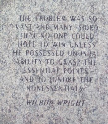 Wilbur Wright Paver image. Click for full size.