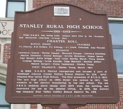 Stanley Rural High School Marker image. Click for full size.