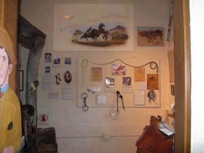 Pony Express Exhibit image. Click for full size.