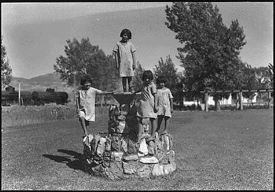 Children and Grounds at the Stewart Indian School image. Click for full size.