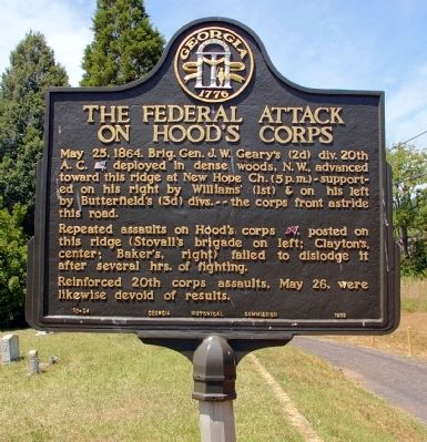The Federal Attack on Hood�s Corps Marker image. Click for full size.
