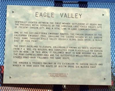 Eagle Valley Marker image. Click for full size.