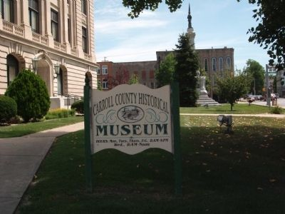 Carroll County Museum in Courthouse - Sign image. Click for full size.