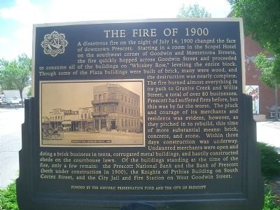 The Fire of 1900 Marker Photo, Click for full size