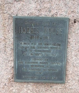 Original Site of Harris House Marker image. Click for full size.