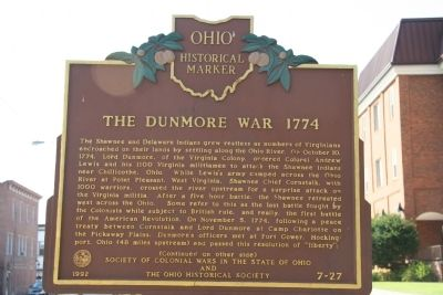 The Dunmore War 1774 Marker image. Click for full size.