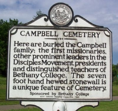 Campbell Cemetery Marker Photo, Click for full size