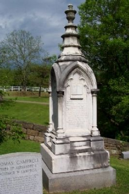 Alexander Campbell Tombstone Photo, Click for full size