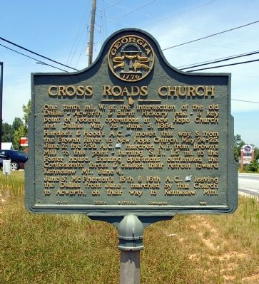 Cross Roads Church Marker image. Click for full size.