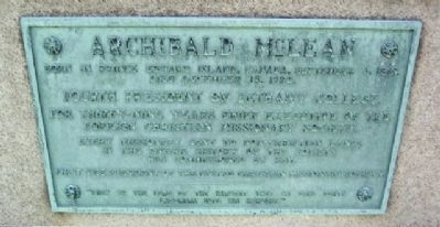 Archibald McLean Marker image. Click for full size.