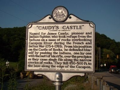 """Caudy's Castle"" Marker image. Click for full size."