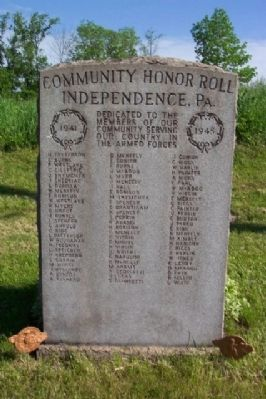 Independence World Wars Community Honor Roll image. Click for full size.