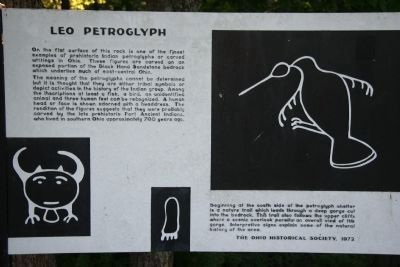 Leo Petroglyph Marker image. Click for full size.