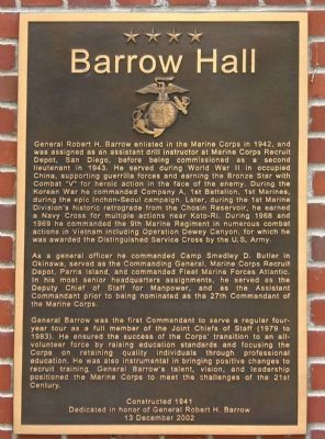 Barrow Hall Marker image. Click for full size.