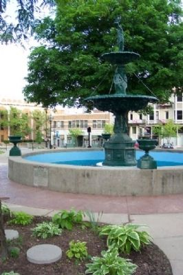 Vasbinder Fountain and Marker Photo, Click for full size