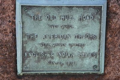 The Old Hull Road Marker image. Click for full size.