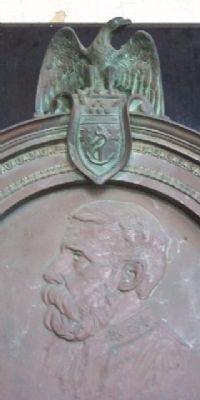 Commander Edward Parker Wood Marker Detail image. Click for full size.