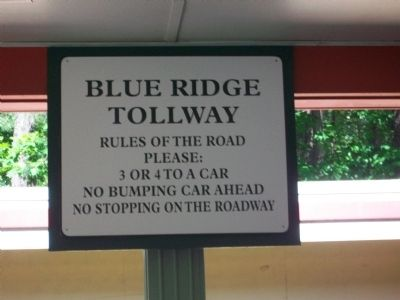 Rules for Blue Ridge Tollway image. Click for full size.