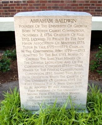 Abraham Baldwin Marker image. Click for full size.
