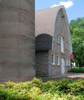 John De La Howe Barn and Silos -<br>Front (East) Side Photo, Click for full size