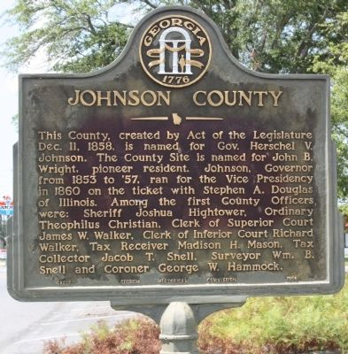 Johnson County Marker image. Click for full size.