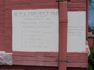 Johnson County Courthouse Cornerstone image. Click for full size.
