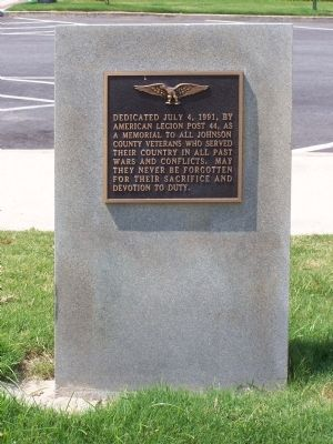 Johnson County Veterans Memorial image. Click for full size.