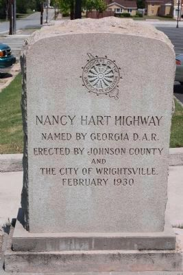 Johnson County Nancy Hart Highway (Ga-15) Thru Wrightsville. Northwest corner of County Courthouse image. Click for full size.